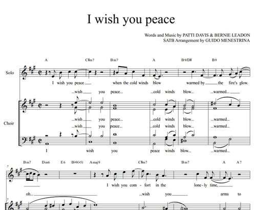 Eagles - I wish you peace - A capella SATB + solo