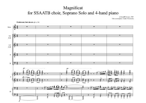 Z.Randall Stroope - Magnificat 2001 (2010 SSAATTB score version)