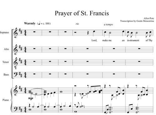 Allen Pote - Prayer of St. Francis