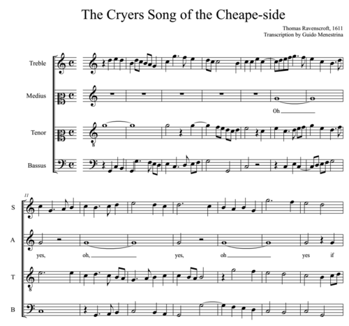 Thomas Ravenscroft (1582-1635) - The Cryers Song of cheape-side