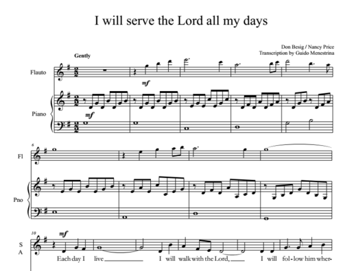 I will serve the Lord all my days (Besig/Price) SATB