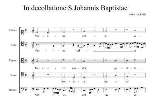 Adam von Fulda (1445-1505) - In decollatione S.Johannis Baptistae