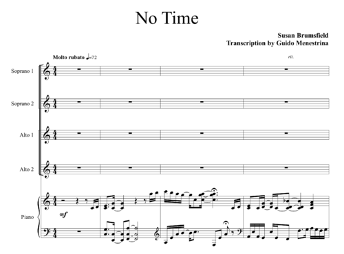 Susan Brumsfield - No time SSAA